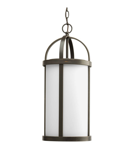 Progress Lighting Greetings 1 Light Outdoor Hanging Lantern in Antique Bronze P5549-20 photo
