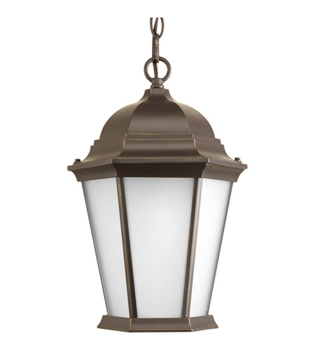 Progress P5582-20EB Welbourne 1 Light 10 inch Antique Bronze Outdoor Hanging Lantern in Etched, Fluorescent photo
