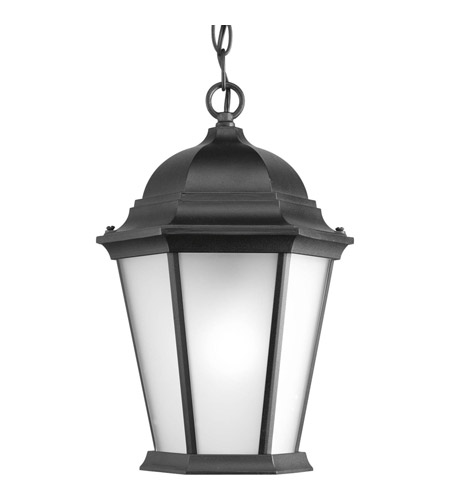 Progress P5582-31EB Welbourne 1 Light 10 inch Black Outdoor Hanging Lantern in Etched, Fluorescent photo