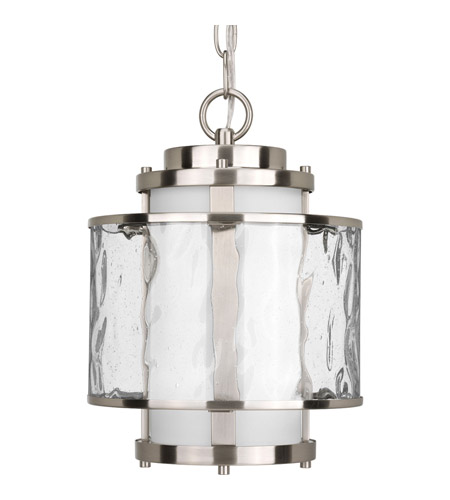 Progress P5589 09 Bay Court Outdoor 1 Light 9 Inch Brushed Nickel Outdoor  Hanging Lantern