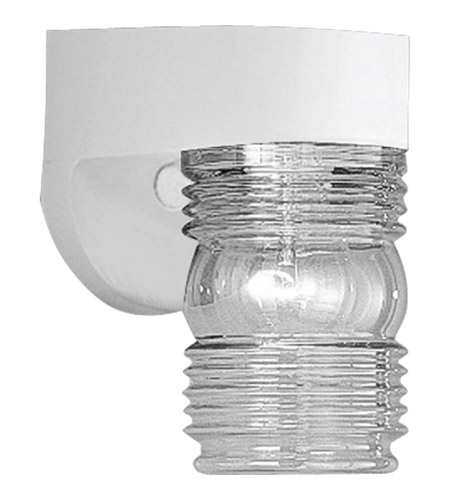 Progress P5612-30 Polycarbonate Outdoor 1 Light 7 inch White Outdoor Wall Lantern