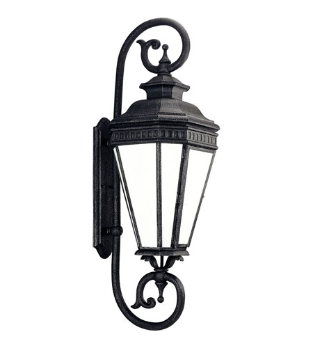 Progress P5623-71STR Georgian 1 Light 39 inch Gilded Iron Outdoor Wall Lantern in Energy Star Rated photo