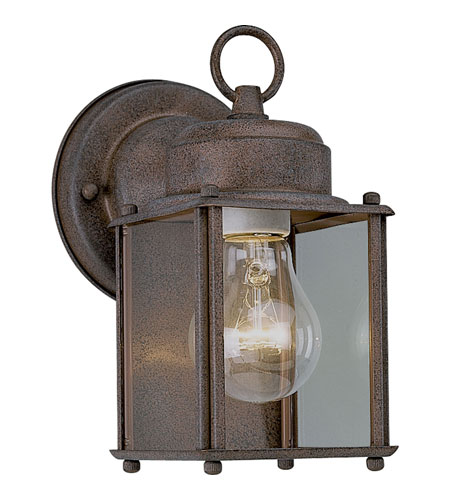 Progress Lighting Flat Glass Lantern 1 Light Outdoor Wall Lantern in Cobblestone P5627-33 photo