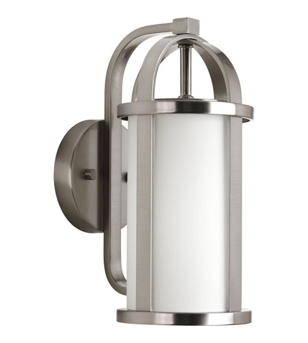 Progress Lighting Greetings 1 Light Outdoor Wall Lantern in Brushed Nickel P5631-09