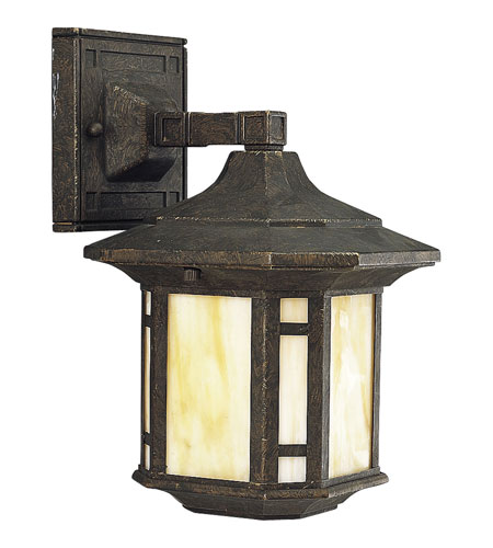 Progress Lighting Arts and Crafts 1 Light Outdoor Wall Lantern in Weathered Bronze P5633-46STR photo