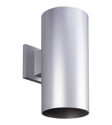 Progress P5641 82 Cylinder 1 Light 12 Inch Metallic Gray Outdoor Wall Lantern