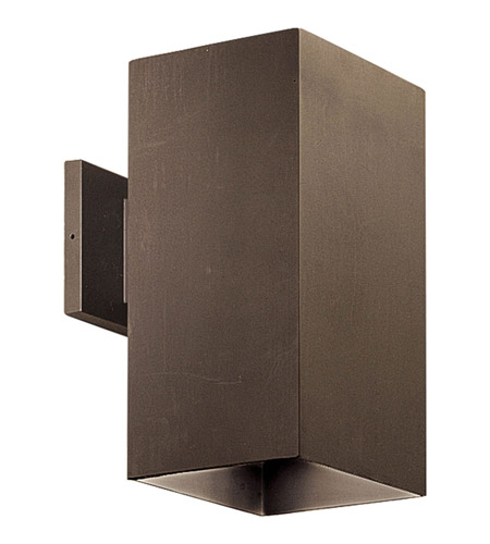 Bronze Square Outdoor Wall Lights