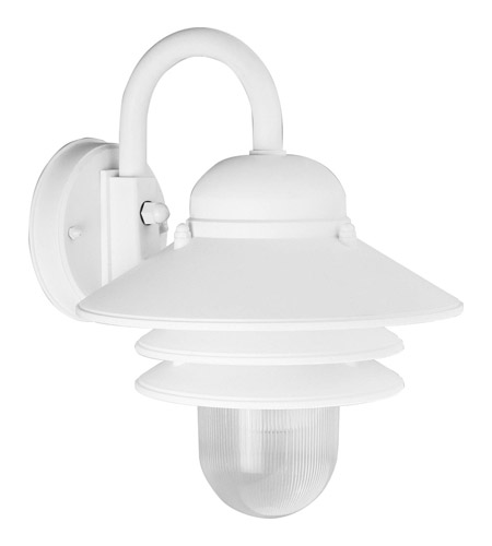 Progress P5645-30 Newport 1 Light 10 inch White Outdoor Wall Lantern photo