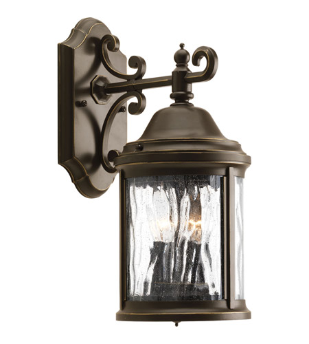 Progress P5649-20 Ashmore 2 Light 15 inch Antique Bronze Outdoor Wall Lantern photo