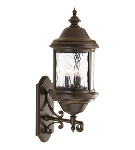Progress Lighting Ashmore 3 Light Outdoor Wall Lantern in Antique Bronze P5653-20 photo