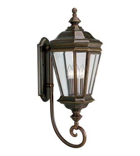 Oil Rubbed Bronze Outdoor Lighting: Progress P5672-108 Crawford 3 Light 29 inch Oil Rubbed Bronze Outdoor Wall  Lantern,Lighting