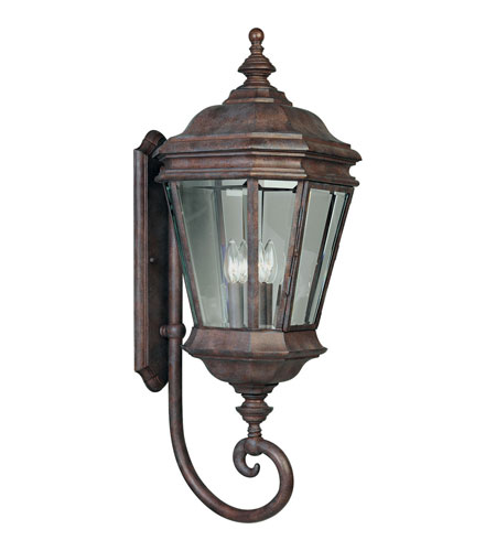Progress Lighting Crawford 4 Light Outdoor Wall Lantern in Cobblestone P5673-33 photo