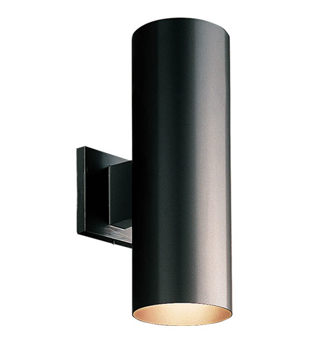 Progress P5675 31 Cylinder 2 Light 14 Inch Black Outdoor Wall Lantern In Stan