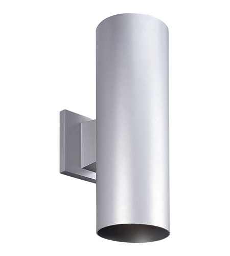 Progress Lighting Cylinder 2 Light Outdoor Wall Lantern in Metallic Gray P5675-82 photo