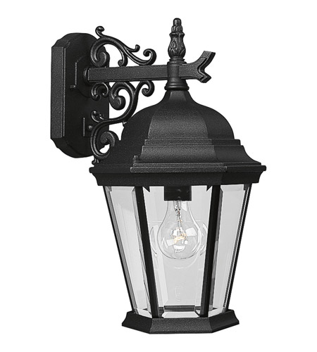 Progress P5683-31 Welbourne 1 Light 18 inch Textured Black Outdoor Wall Lantern in Clear Beveled, Standard photo