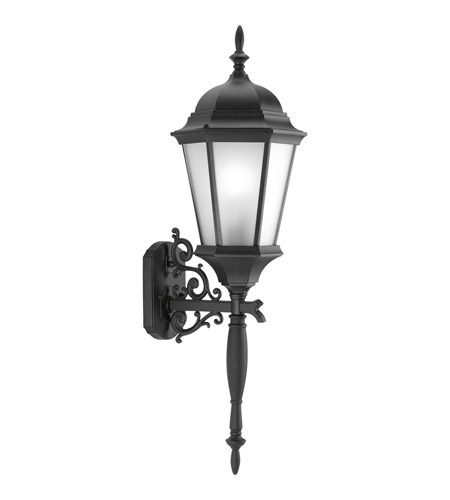 Progress P5684-31EB Welbourne 1 Light 31 inch Black Outdoor Wall Lantern in Etched, Fluorescent photo
