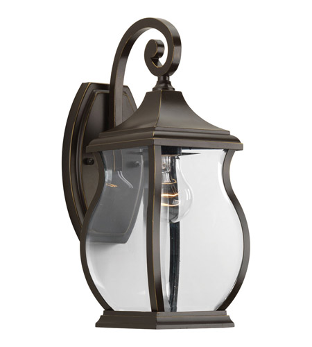Progress P5692 108 Township 1 Light 15 Inch Oil Rubbed Bronze Outdoor Wall Lantern