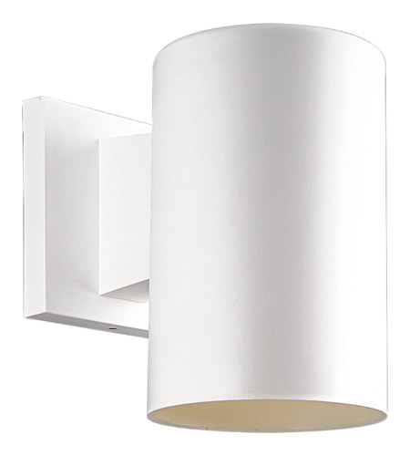 Progress P5712 30 Cylinder 1 Light 7 Inch White Outdoor Wall Lantern