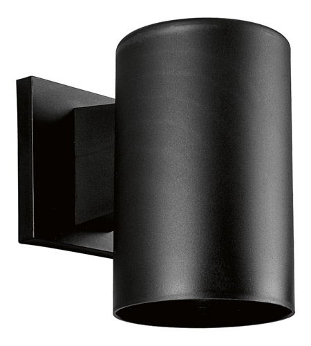 Progress P5712-31 Cylinder 1 Light 7 inch Black Outdoor Wall Lantern photo