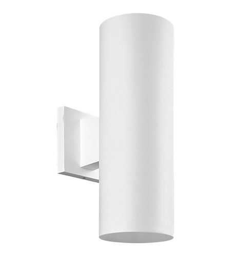 Progress Lighting Cylinder 2 Light Outdoor Wall Lantern in White P5713-30 photo