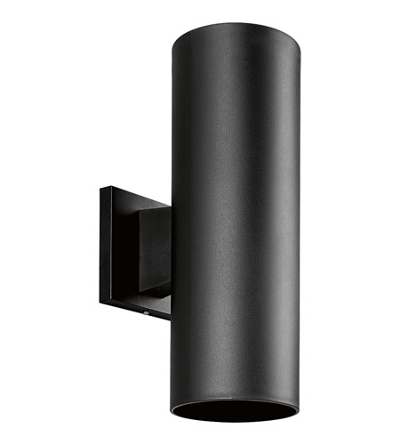 Progress P5713-31 Cylinder 2 Light 14 inch Black Outdoor Wall Lantern photo