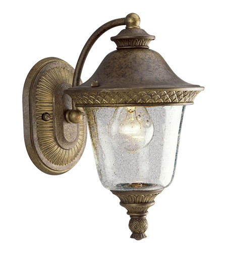 Savannah 1 Light 12 Inch Burnished Chestnut Outdoor Wall Lantern