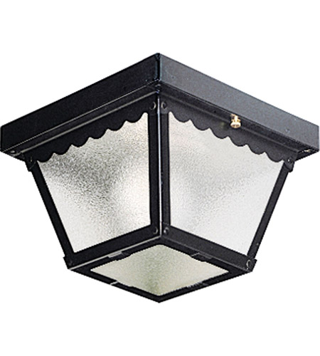 Progress P5727-31 Signature 1 Light 8 inch Black Outdoor Ceiling Lantern photo