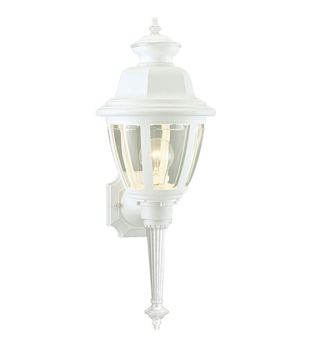 Progress P5738-30 Non-Metallic 1 Light 21 inch White Outdoor Wall Lantern