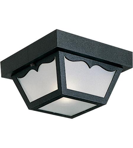 Signature 1 Light 8 Inch Black Outdoor Ceiling Lantern