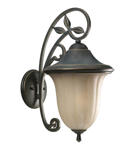 progress p5747 84 le jardin 1 light 21 inch espresso outdoor wall