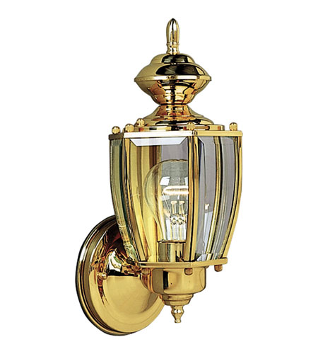 Progress Lighting BrassGUARD 1 Light Outdoor Wall Lantern in Polished Brass P5754-10 photo