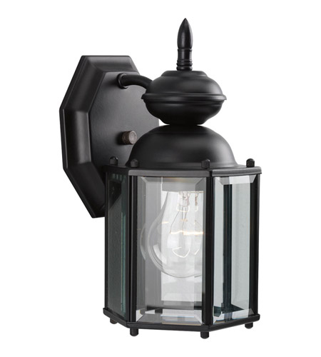 Progress P5756-31 BrassGUARD 1 Light 10 inch Matte Black Outdoor Wall Lantern photo