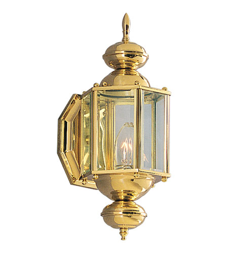 Progress Lighting BrassGUARD 1 Light Outdoor Wall Lantern in Polished Brass P5757-10 photo