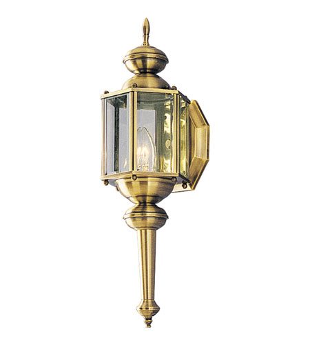 Progress P5758-11 BrassGUARD 1 Light 19 inch Antique Brass Outdoor Wall Lantern photo