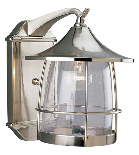 Progress Lighting Prairie 1 Light Outdoor Wall Lantern in Brushed Nickel P5764-09 photo