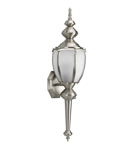 Progress P5772-09STR Roman Coach 1 Light 20 inch Brushed Nickel Outdoor Wall Lantern in Energy Star Rated photo