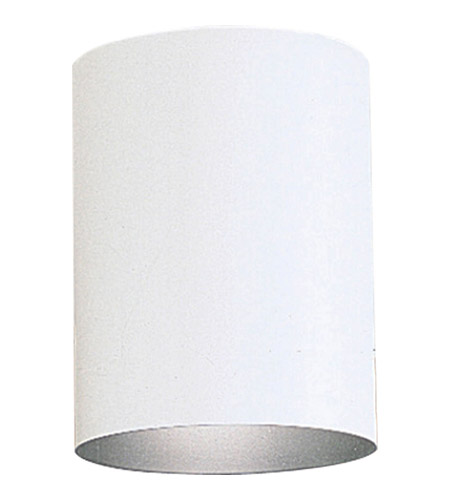 Cylinder 1 Light 5 Inch White Outdoor Ceiling Mount