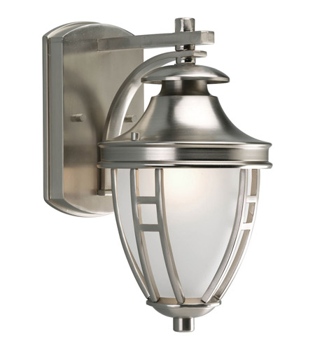 Progress P5775-09 Fairview 1 Light 12 inch Brushed Nickel Outdoor Wall Lantern photo