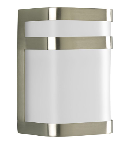 Progress P5800-09 Valera 1 Light 8 inch Brushed Nickel Outdoor Wall Lantern in GU24 CFL photo