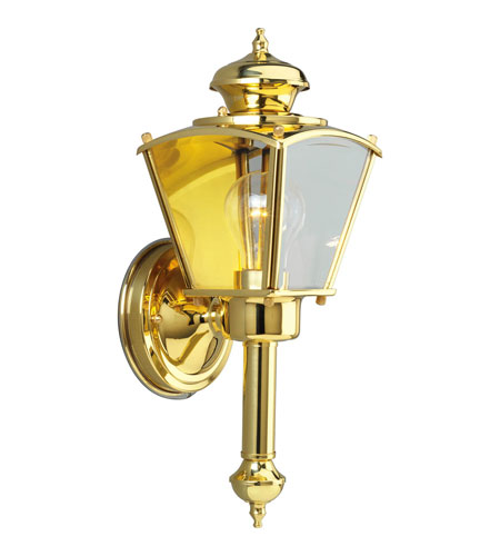 Progress Lighting BrassGUARD 1 Light Outdoor Wall Lantern in Polished Brass P5846-10 photo