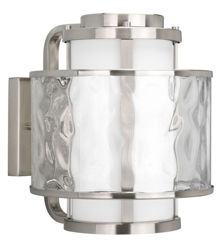 Progress Lighting Thomasville Bay Court Outdoor 1 Light Outdoor Wall Lantern in Brushed Nickel P5851-09 photo