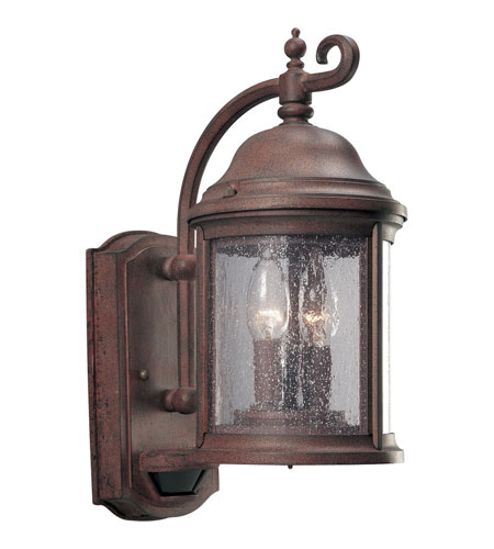 Progress P5854-33 Motion Sensor 2 Light 15 inch Cobblestone Outdoor Wall Lantern photo