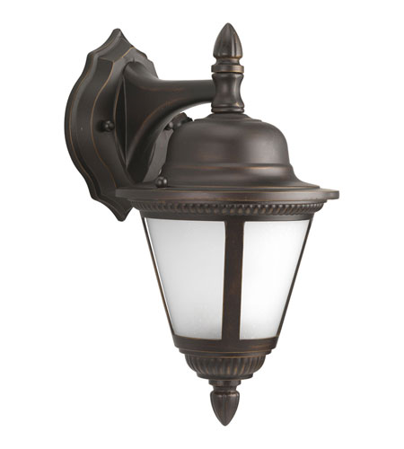 Progress P5862-20STR Westport 1 Light 13 inch Antique Bronze Outdoor Wall Lantern in Bulbs Not Included, Energy Star Rated, Frosted Seeded photo