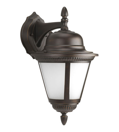 Progress P5863-20STR Westport 1 Light 16 inch Antique Bronze Outdoor Wall Lantern in Bulbs Not Included, Energy Star Rated, Frosted Seeded photo