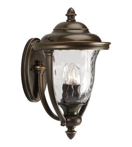 Oil Rubbed Bronze Outdoor Lighting: Progress P5923-108 Prestwick 3 Light 17 inch Oil Rubbed Bronze Outdoor Wall  Lantern,Lighting