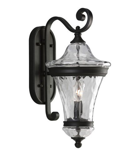 Progress Lighting Seirenes 2 Light Outdoor Wall Lantern in Textured Black P5937-31 photo