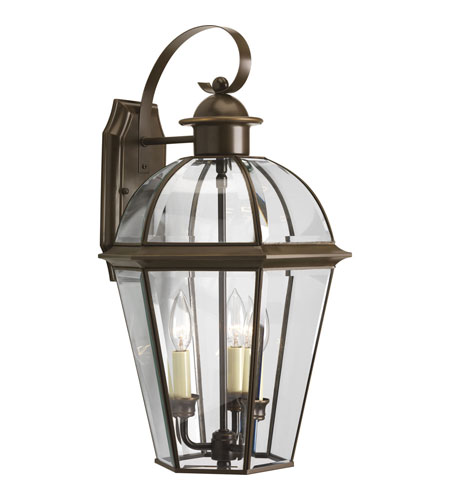 Progress Lighting Danbury 3 Light Outdoor Wall Lantern in Antique Bronze P5940-20 photo