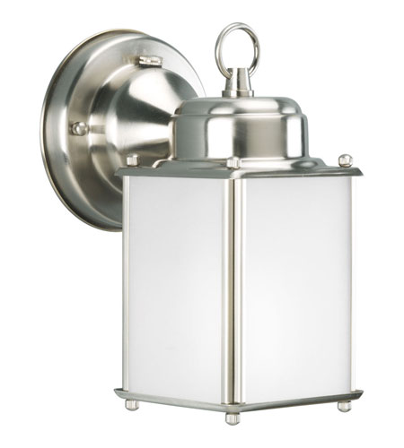 Progress Lighting Roman Coach 1 Light Outdoor Wall Lantern in Brushed Nickel P5986-09STR photo