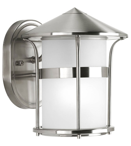 Progress Lighting Welcome 1 Light Outdoor Wall Lantern in Stainless Steel P6003-135 photo
