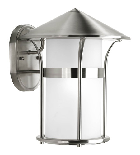 Progress Lighting Welcome 1 Light Outdoor Wall Lantern in Stainless Steel P6005-135 photo
